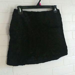 Textured micro mini skirt